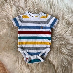 🌟$5 ADD ON🌟 Baby gap boy bodysuit bear stripes